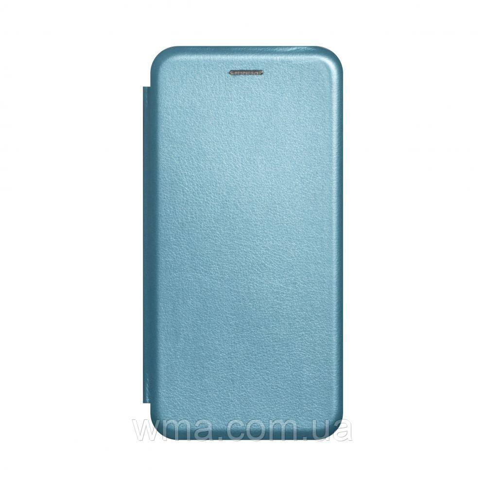 Чохол-книжка шкіра Samsung A41 2020 Колір Блакитний