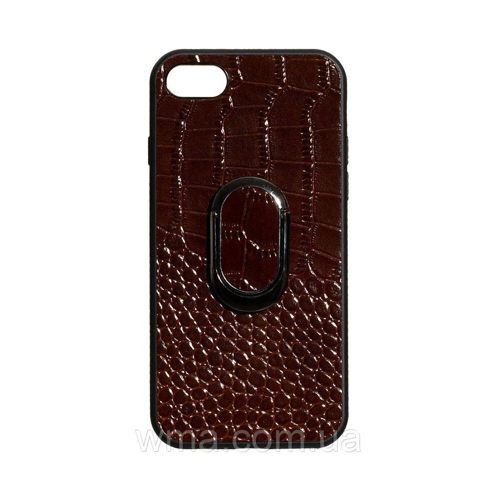 Чехол Genuine Leather Croco for Apple Iphone 8G Цвет Коричневый