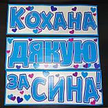 Набор наклеек на авто (и другие поверхности) для выписки-встречи малыша из роддома ( на укр.яз), фото 2