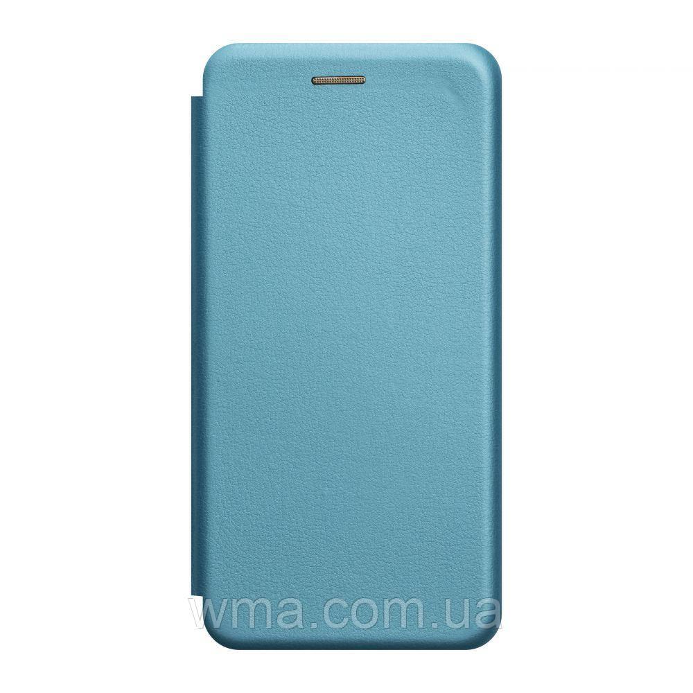 Чехол-книжка кожа Xiaomi Redmi 7A Цвет Голубой