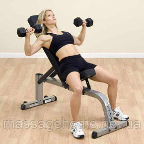 Регулируемая скамья Body-Solid Heavy Duty Flat Incline Bench GFID-71, фото 2