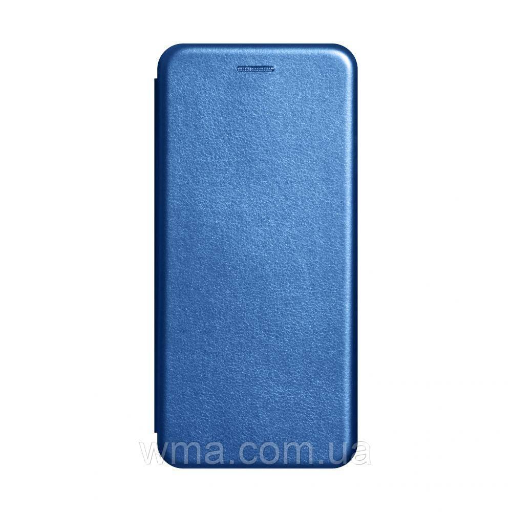 Чехол-книжка кожа Realme 6 Цвет Синий