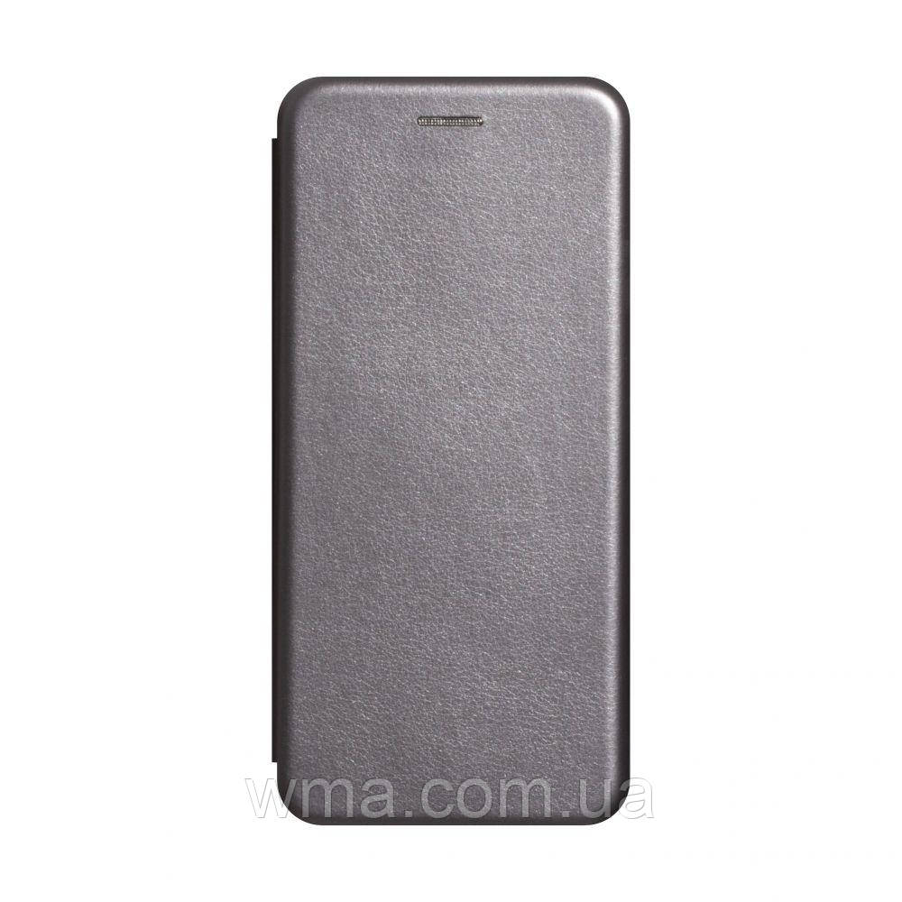 Чехол-книжка кожа Realme 6 Цвет Серый