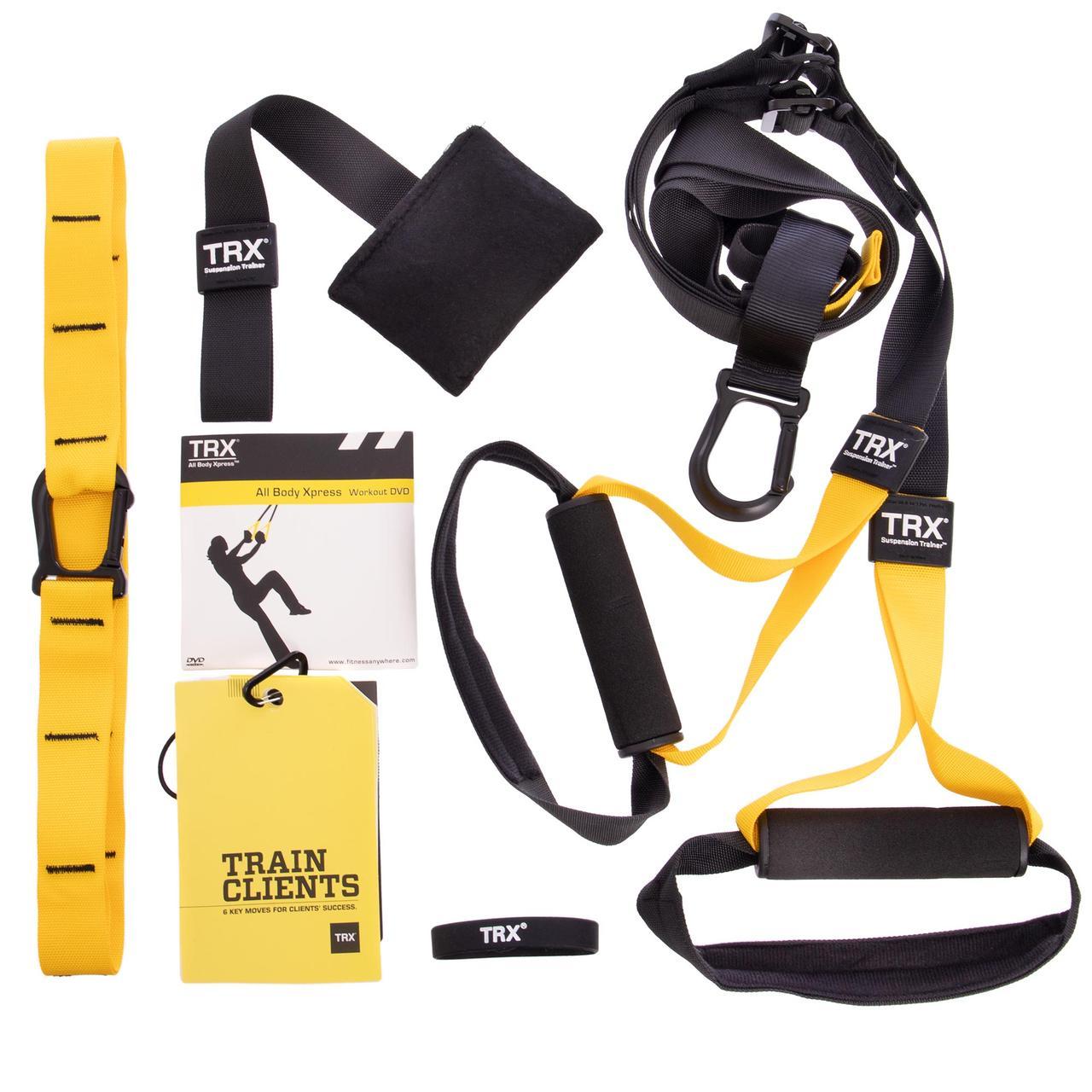 Петли TRX функциональный тренажер PRO PACK P3 HOME FI-3726-05 (петли подвесные, дверное крепление, DVD, сумка,