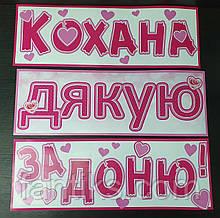 Набор наклеек на авто (и другие поверхности) для выписки-встречи малышки из роддома ( на укр.яз)