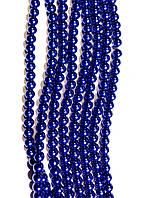 Керамический жемчуг, темно синий 6 мм