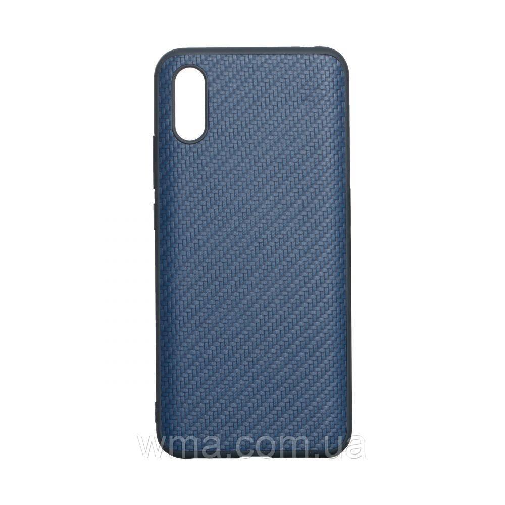 Чехол Carbon for Xiaomi Redmi 9A HQ Цвет Синий