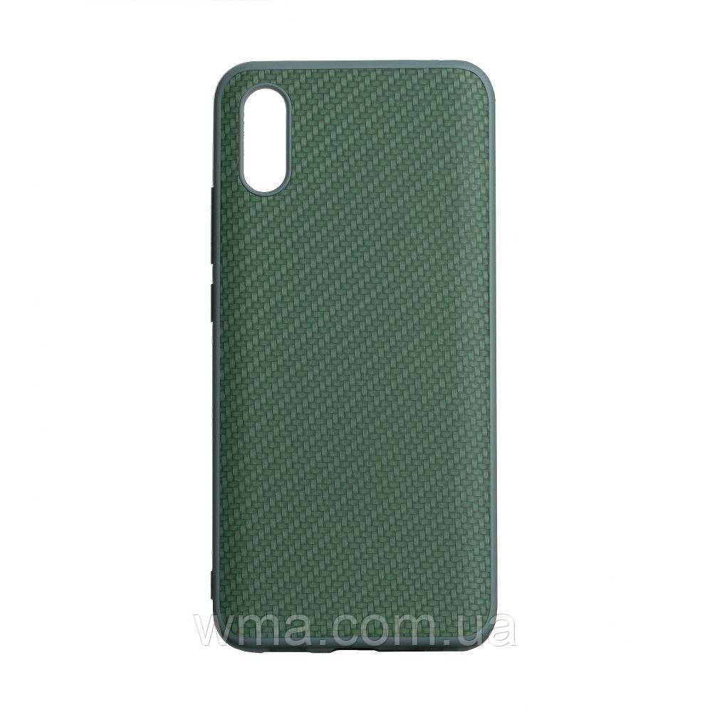 Чехол Carbon for Xiaomi Redmi 9A HQ Цвет Зелёный