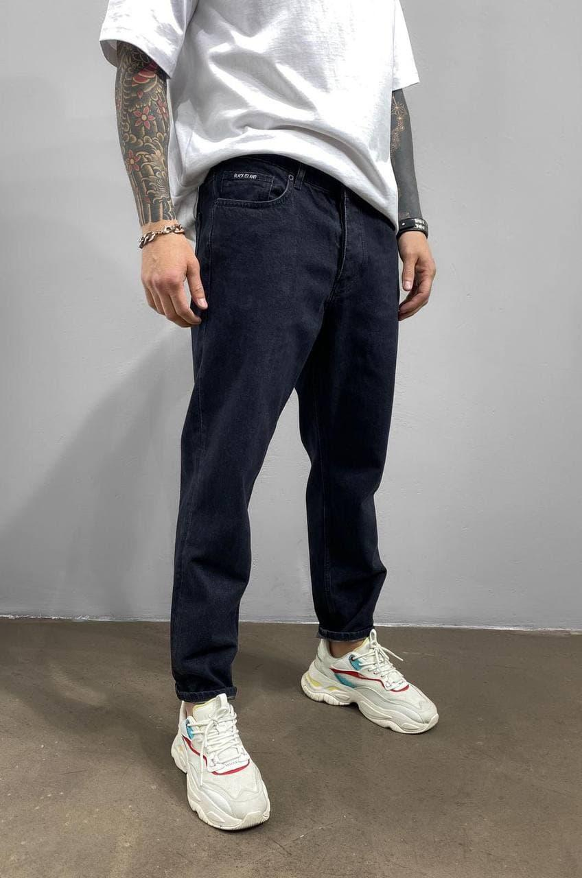 Мужские джинсы МОМ прямые черные