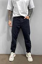 Мужские джинсы МОМ прямые черные, фото 2