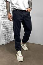 Мужские джинсы МОМ прямые черные, фото 3