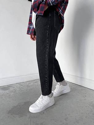 Чоловічі джинси МОМ прямі чорного кольору, фото 2