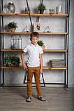 Футболка поло (тенниска) для мальчика SmileTme Polo, белая, фото 6