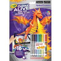 Набор для творчества Crayola Книга-раскраска с фломастерами Замки и Драконы (95-1051)