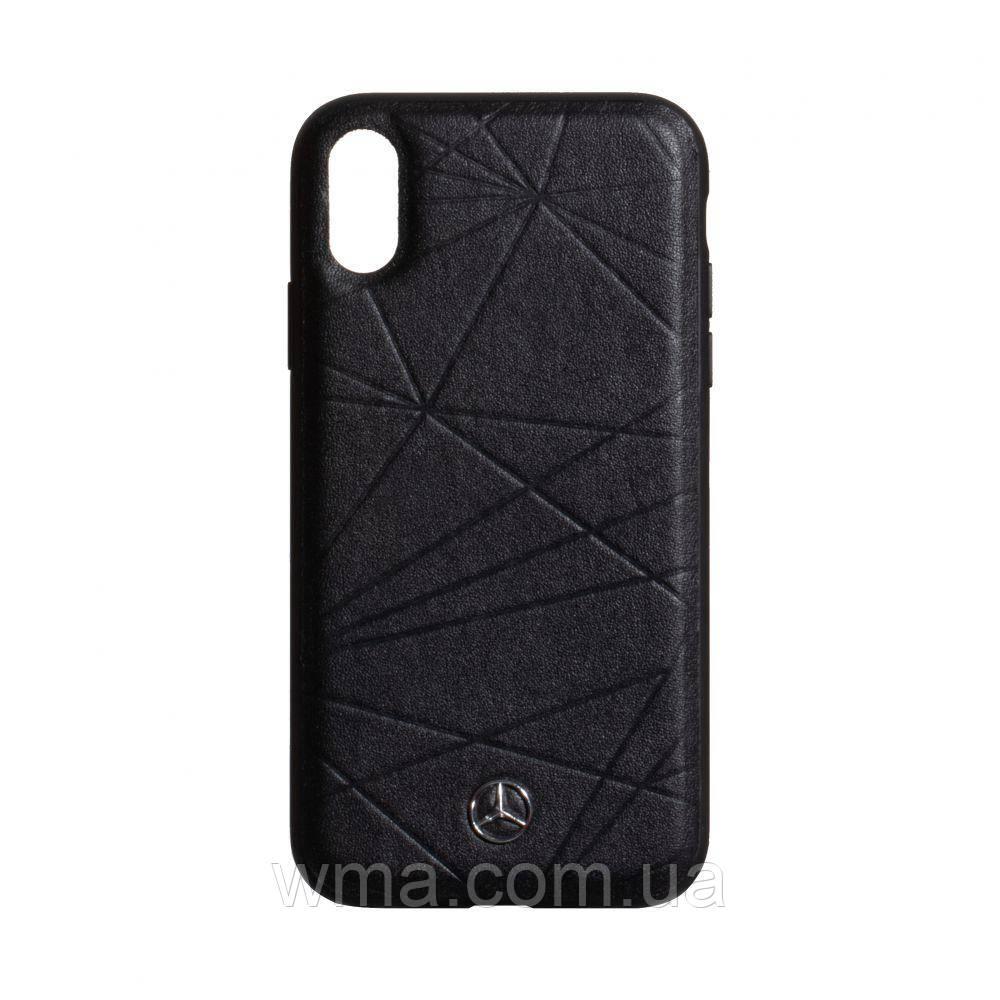 Чехол Mercedes-Benz Leather for Apple Iphone Xr Цвет Чёрный