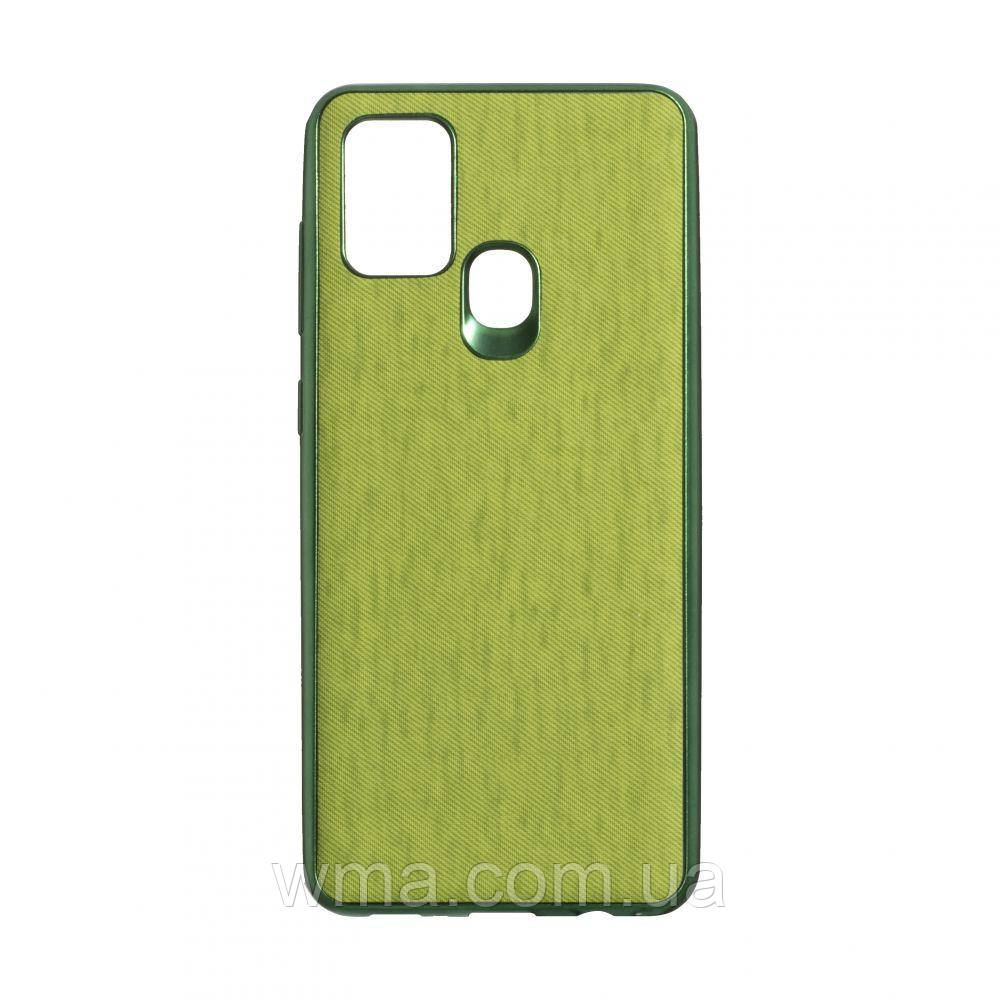 Чехол Jeans for Samsung A21s Цвет Зелёный