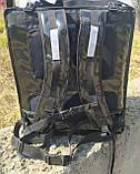 Раскладной рюкзак для еды, пиццы 42*42, напитков. Раскладная сумка доставки еды, пиццы, суши. ПВХ. Каркас, фото 9