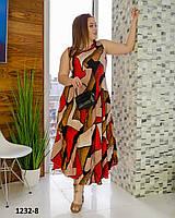 Легкое платье свободного кроя большой размер