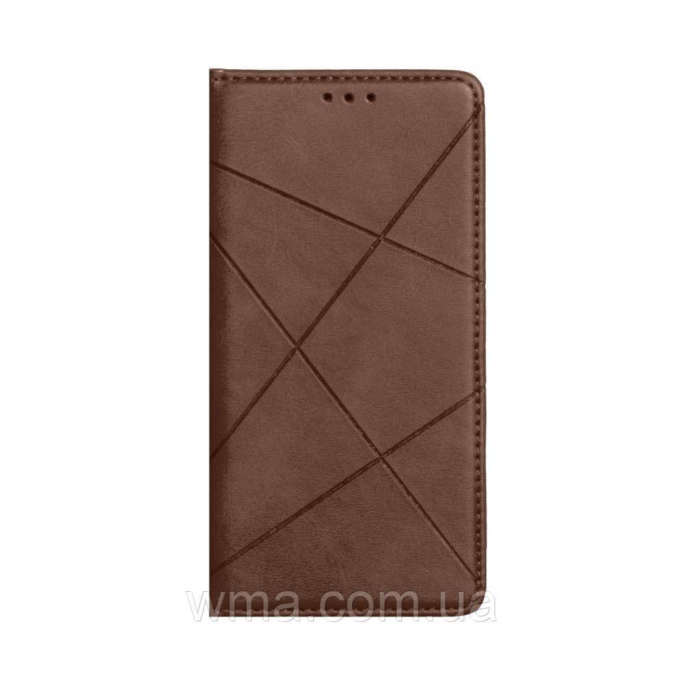 Чохол-книжка Business Leather for Huawei P40 Колір Коричневий