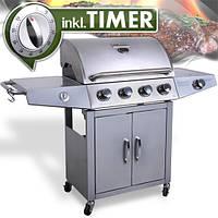 Гриль газовый Broil-master BBQ G01 15,2kw 4+1 Silver , фото 1