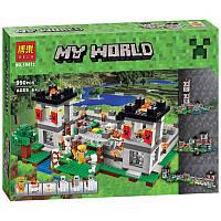 Конструктор My World Майнкрафт 10472 Minecraft 'Крепость', 990 дет.