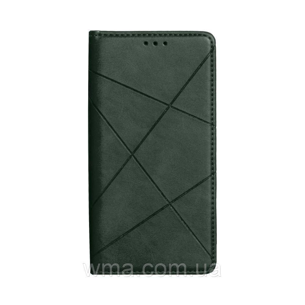 Чохол-книжка Business Leather for Samsung A01 / M01 Колір Зелений