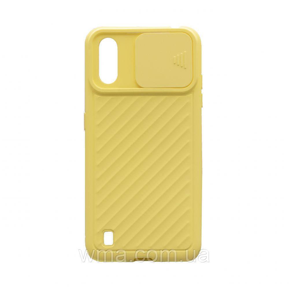 Чехол Сurtain Color for Samsung A01 Цвет Жёлтый