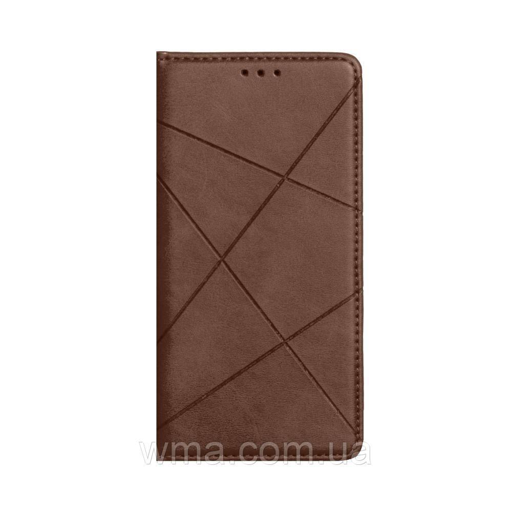Чехол-книжка Business Leather for Samsung A21s Цвет Коричневый