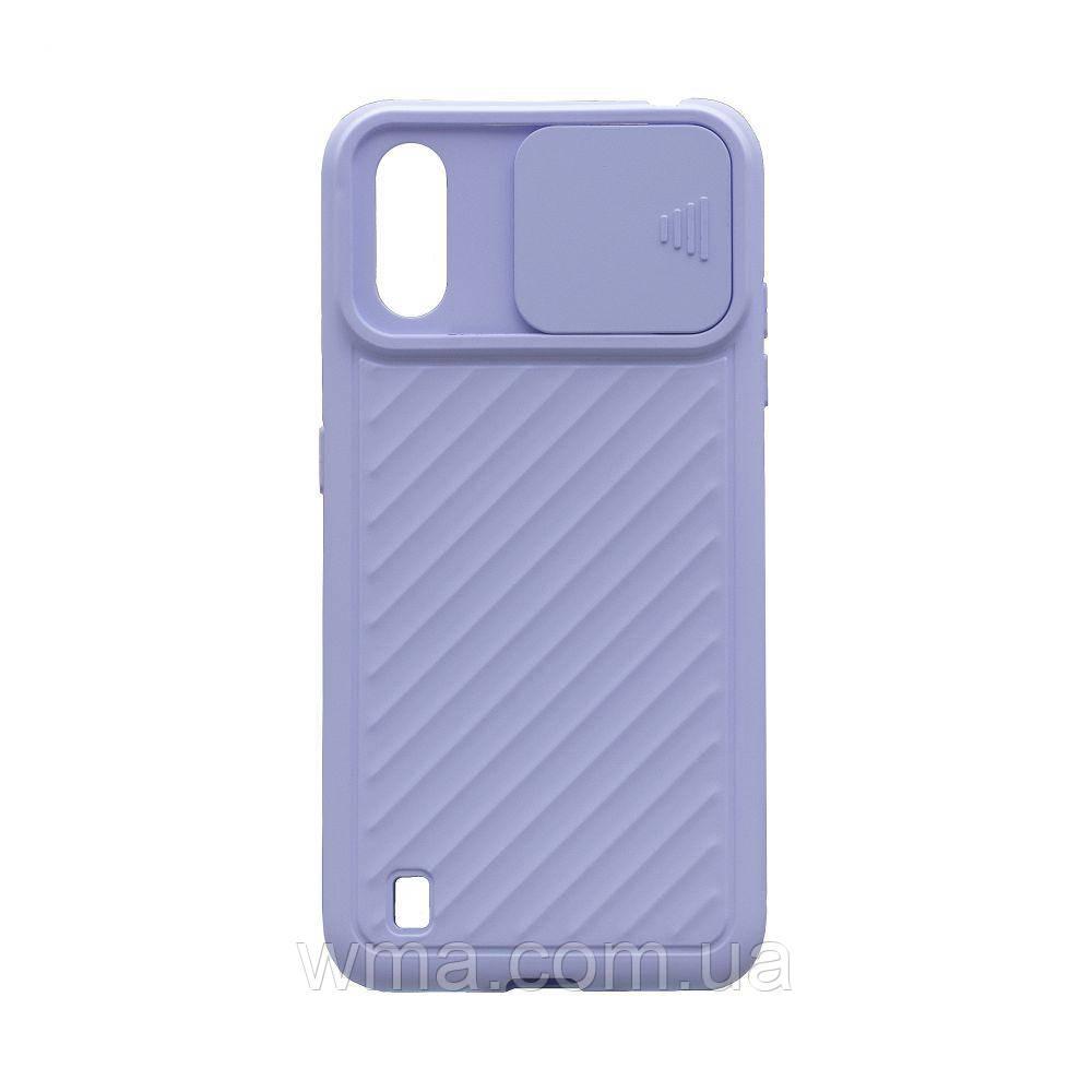 Чохол Сurtain Color for Samsung A01 Колір Бузковий