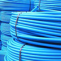 Труба ПЕ для водопостачання (блакитна) ф 50x 3.0 мм, 100мп, 10 атм (Польща)