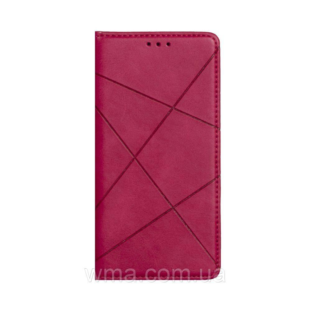 Чехол-книжка Business Leather for Samsung Note 20 Цвет Малиновый