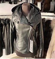 Кожаная женская куртка косуха Трансформер