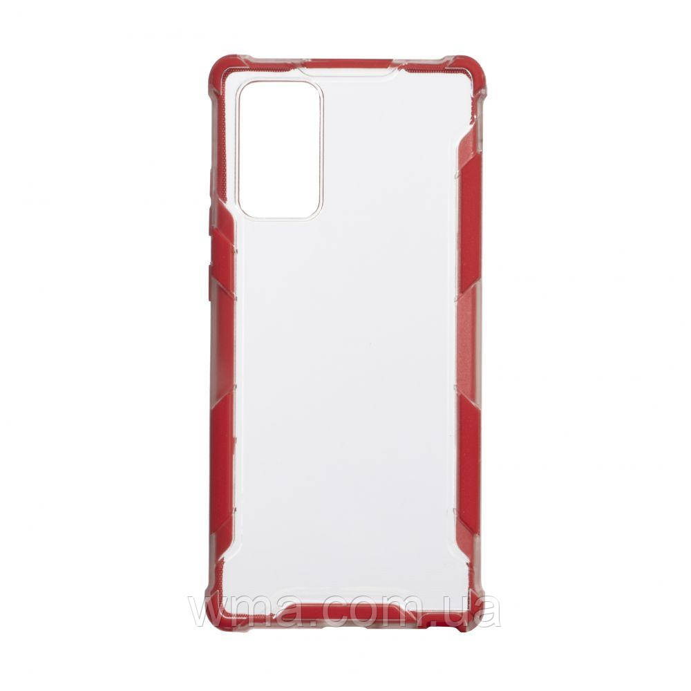 Чехол Armor Case Color Clear for Samsung Note 20 Цвет Красный