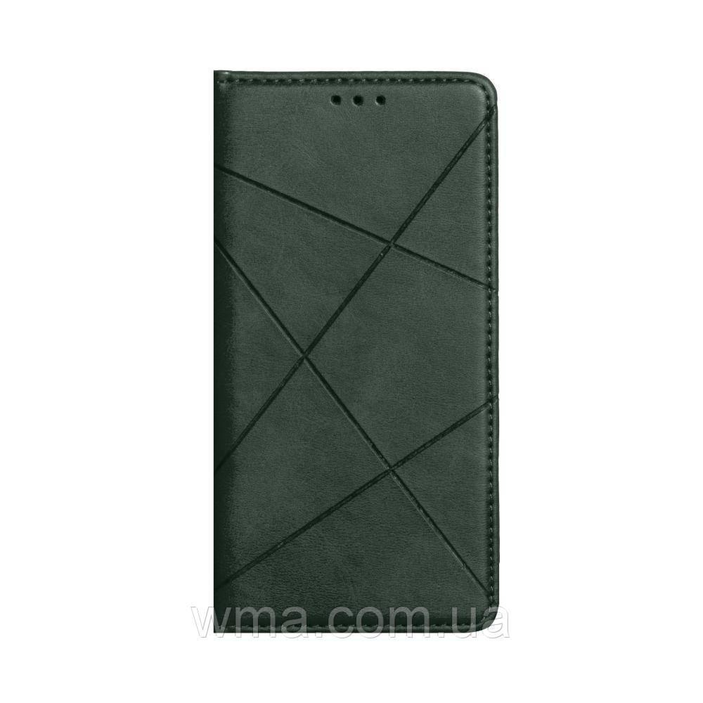 Чехол-книжка Business Leather for Xiaomi Redmi 9 Цвет Зелёный