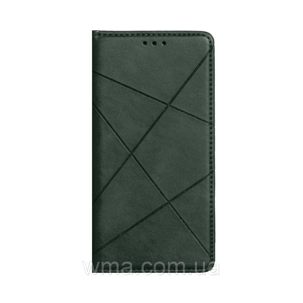Чехол-книжка Business Leather for Xiaomi Redmi 9A Цвет Зелёный