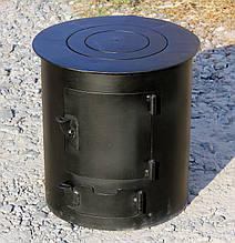 Опалювально варильна піч буржуйка виготовлена з вуглецевої гарячекатаної сталі товщиною 3 мм Горяна