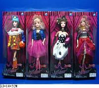 """Кукла типа """"Барби""""  2019 (72шт/2) 4 вида, в стильной одежде, в кор. 33*11*5см"""