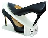 Подставка для обуви двойная (органайзер для обуви) Shoe Slotz, фото 2