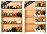 Подставка для обуви двойная (органайзер для обуви) Shoe Slotz, фото 5