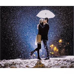 """Алмазная живопись """"Зимний поцелуй"""", мозаика по номерам размер 30*40см Китай"""
