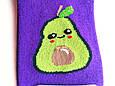 Носки женские короткие демисезонные с принтом авокадо фиолетовые Натали размер 37-41, фото 3