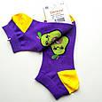 Носки женские короткие демисезонные с принтом авокадо фиолетовые Натали размер 37-41, фото 2