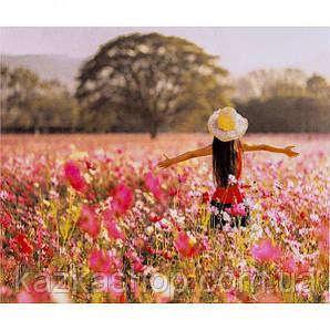 """Алмазная живопись """"Цветочное поле"""", мозаика по номерам размер 30*40см Китай"""
