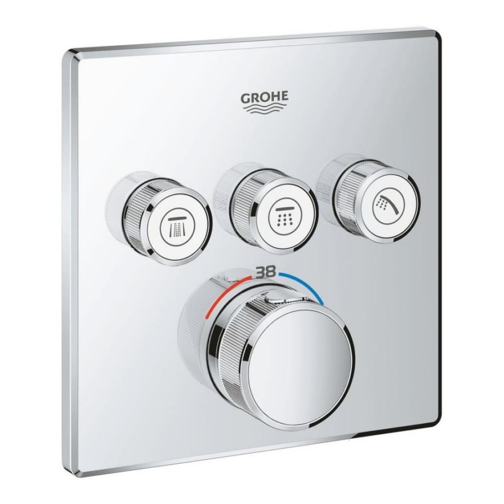 Зовнішня частина термостатичного змішувача для ванни Grohe Grohtherm SmartControl 29126000 на три споживача