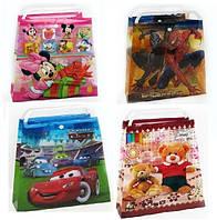 Пакет-сумка 623-9A/9B/9C/9D (623-9A) (600шт/3) 4 вида, пластик, герои м/ф, р-р 29*28см