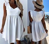 """Красивое модное летнее платье без рукав с завышенной талией """"Сабрина"""""""