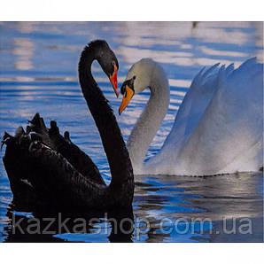 """Алмазная живопись """"Два лебедя"""", мозаика по номерам размер 30*40см Китай"""