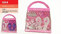 Аксессуары для девочек 626-A (72шт/2) 2 вида,туфли,корона,колье,кольцо,ногти,браслет,в кор.35*31*5см