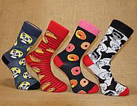 Чоловічі шкарпетки високі стрейчеві з принтом КАРДЕШЛЕР 39-42 асорті м-3