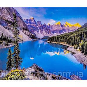 """Алмазная живопись """"Горное озеро"""", мозаика по номерам размер 30*40см Китай"""
